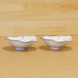 渕瓔珞 菊型楕円皿 (鉢) (青/赤)