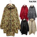 ★TULTEX★雨の日のアウトドアや野外フェスに!カラフルな総柄ZIPレインコート!★