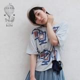 *SALE*<即納>ドロップショルダーリボンTシャツ ティータイム