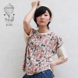 *SALE*<即納>ドロップショルダーリボンTシャツ バタフライブック