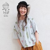 *SALE*<即納>ドロップショルダーリボンTシャツ ベース&フォウル