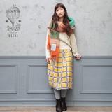 *SALE*<即納>ブロックプリントスカート チェックポット