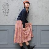 *SALE*<即納>ブロックプリントスカート ヘリンボーンペンシル