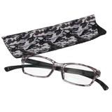首から掛けられるシニアグラス(ブラック迷彩柄)【老眼鏡】