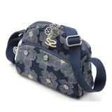 【SAVOY(サボイ)】デニム地に花柄を合わせたショルダーバッグ