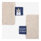 【タグ】刺繍タグ17 sweet friend(ネコ)【手芸用・ハンドメイド】織りネーム・挟みタグ