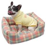 カドラー チェック柄 Sサイズ 犬 ベッド クッション
