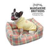 カドラー チェック柄 Mサイズ 犬 ベッド クッション