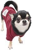 MBライダースクルー バーガンディー 犬 服 ドッグウェア