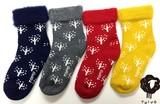 【クリスマスプレゼントに】フィンランド製 裏起毛 TOIVOもこもこソックス Snow flower(雪の花)