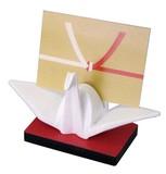 折り鶴カードスタンド 白