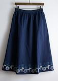 【Web展】【花刺繍スカート】(8月納品)