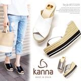 kanna【カンナ】  #KV5329 サンダル つっかけ ウェッジソール