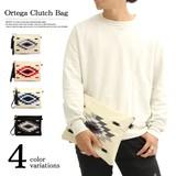 SALE商品【REGiSTA/レジスタ】オルテガ刺繍 タッセル付き クラッチバッグ