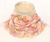 シルクネックカバー(シルク100%)花柄1