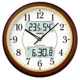 夜見えライト搭載多機能電波壁掛け時計<掛時計・景品・ノベルティ・フルブライト・時報・鳥のさえずり>