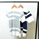 【2016 新作】 メンズ USAコットン ボーダー Tシャツ / 半袖 ポケット カットソー ネイビー グレー 夏