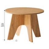 【オリジナル商品】木製ラウンドテーブル