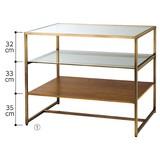 【オリジナル商品】アンティークゴールド 3段テーブル H100cm