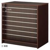 【オリジナル商品】木製パネルカウンター W90cm