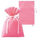 梨地リボン付きギフトバッグ ピンク