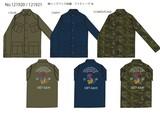 【予約販売】(9月納品)【2016AW新作】綿リップ バック刺繍ファティーグジャケット
