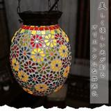 美しく優しい光が創るオリエンタルな雰囲気【モザイクガラスペンダントランプC】アジアン雑貨