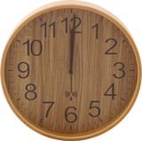 Wood Radio Waves Wall Clock