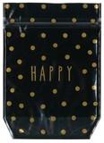 【クラフトZIP POCKET (M)  HAPPY 】★ギフト バッグ ラッピング バレンタイン ホワイトデー