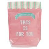 【ZIP POCKET ジップポケット(M) market pink 】★ギフト ラッピング 食品 バレンタイン ホワイトデー
