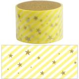 【マスキングテープ30mm slant star_yellow】★デコレーション 手帳 アルバム マスキングテープ 母の日