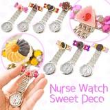 【デコ 時計】ナースウォッチ スイーツデコ 7種 懐中時計 看護士 医療 ストーン