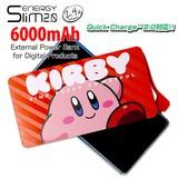 ◎ENERGY Slim(モバイルバッテリー)6000mAh 星のカービィ(フェイス)