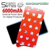 ◎ENERGY Slim(モバイルバッテリー)6000mAh 星のカービィ(ドット)