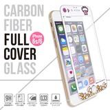 ◎フルカバー強化ガラス保護フィルム(iPhone 6s/6)星のカービィ(クレーンゲーム)