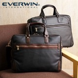 EVERWIN Business Bag Unisex attached leather Light-Weight