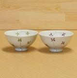 クローバー 丸飯碗 (緑/マロン)