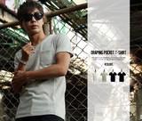 【IMP】3D立体裁断 Vネック Tシャツ