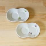 クローバー しょうゆのすべり台 まゆ型 (小皿) (緑/マロン)