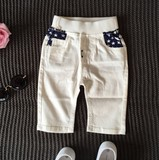キッズ 男の子 ホワイト スターパンツ/Kids Boys star Pants