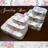 ジュエリーボックス/アクセサリーボックス<宝石入れ 小物入れ ローズ 薔薇>