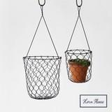 Iron Honeycomb Hanging Planter Basket