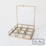 [ガラスケース]BRASSフレーム ガラスコンパートケース  9BOX