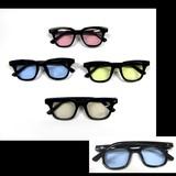 黒フレーム薄カラープラサングラス