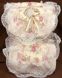 Lace Toilet Paper Holder Rose Print