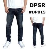 【韓国デニム】【DPSR】 ウォッシュド ストレッチ スキニー バイカー デニムパンツ #DP015