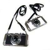 【レンズに鏡あり!】リアル目カメラやわらか紐付きiPhone6・アイフォーンケース