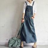 裾ワイド・ロングジャンパースカート・サロペット