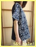 【最終】《SS SALE!》Cabinet☆ひと夏着回し!適度なアクセ!前身花柄オーバーレース半袖ドルマンPO!