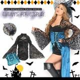 【即納】Let'sハロウィンパーティー!!魔女風ワンピース*ハロウィン コスプレ 衣装